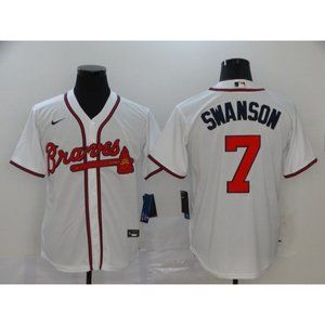 Atlanta Braves Dansby Swanson White Jersey